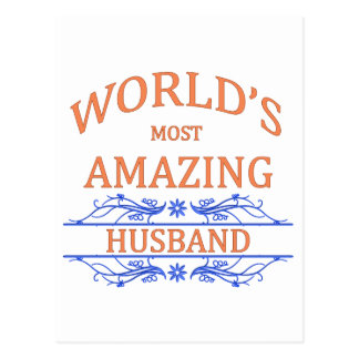 Amazing Husband Postcard