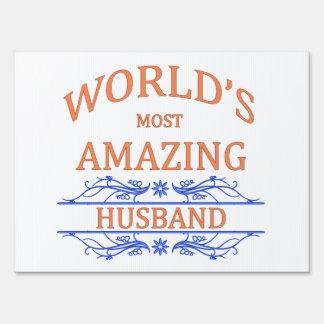 Amazing Husband Yard Sign