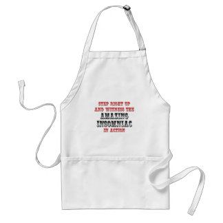 Amazing Insomniac In Action Adult Apron