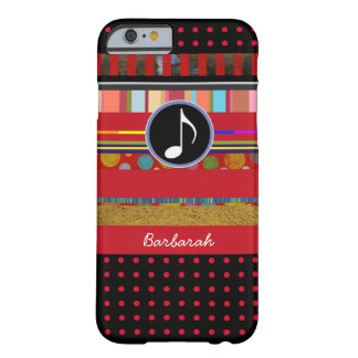 amazing iPhone 6 music-themed personalized Barely There iPhone 6 Case