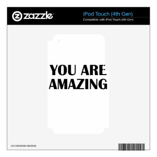 amazing iPod touch 4G skin