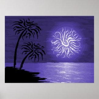 Amazing Island Night Posters