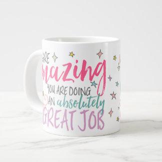 Amazing Job, Keep it Up Coffee Mug, G Version Large Coffee Mug