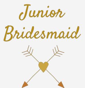 92045b5f43464 Wedding Junior Bridesmaid T-Shirts - T-Shirt Design & Printing | Zazzle