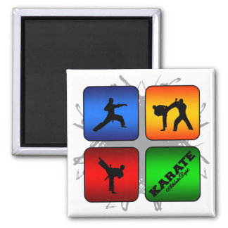 Amazing Karate Urban Style 2 Inch Square Magnet