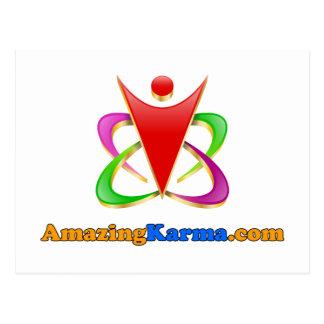 Amazing Karma | AmazingKarma.com Logo Postcard