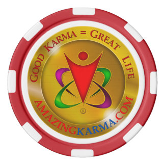 Amazing Karma Gold Coin Logo | Bad Deed Poker Chips