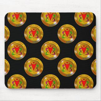 Amazing Karma Gold Coin Logo Black Mouse Pad