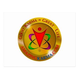 Amazing Karma Gold Coin Logo Postcard