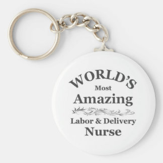 Amazing labor and delivery nurse key chains