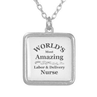 Amazing labor and delivery nurse necklaces