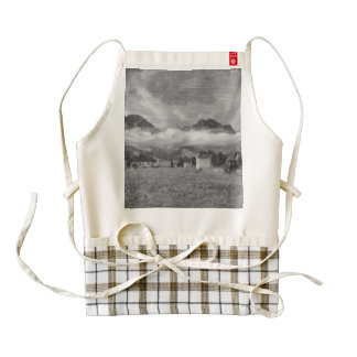 Amazing landscape in Switzerland Zazzle HEART Apron