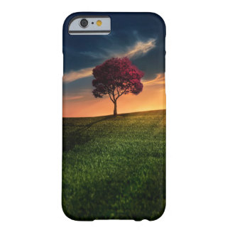 Amazing Landscape with a Red Tree at Sunset Barely There iPhone 6 Case