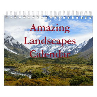 Amazing Landscapes Two Page, Small, White Calendar
