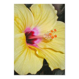 Amazing Large Yellow Flower Invitation