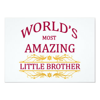 Amazing Little Brother 5x7 Paper Invitation Card