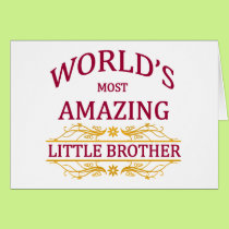 Amazing Little Brother Card