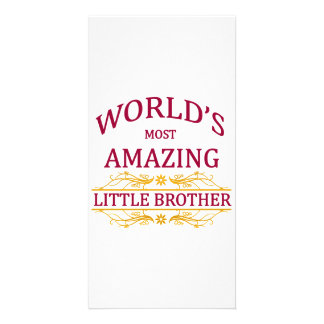 Amazing Little Brother Photo Card