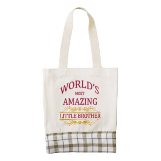 Amazing Little Brother Zazzle HEART Tote Bag