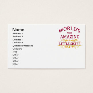 Amazing Little Sister Business Card