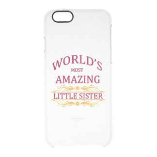 Amazing Little Sister Clear iPhone 6/6S Case