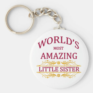 Amazing Little Sister Keychain