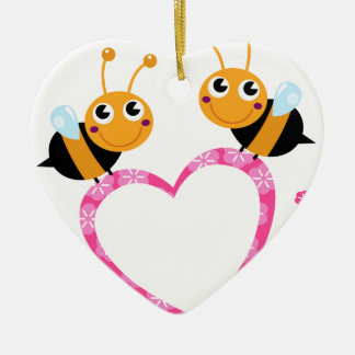 Amazing Love bees Tshirts Ceramic Ornament