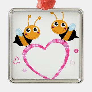 Amazing Love bees Tshirts Metal Ornament