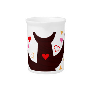 Amazing Love birds colorful on Tree Beverage Pitcher