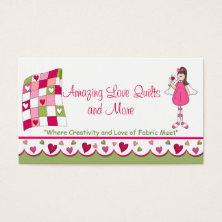 Amazing Love Quilt Custom Business Card