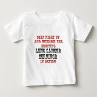 Amazing Lung Cancer Survivor In Action Baby T-Shirt