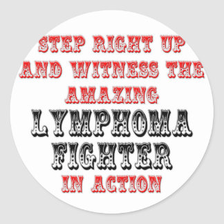Amazing Lymphoma Fighter In Action Classic Round Sticker