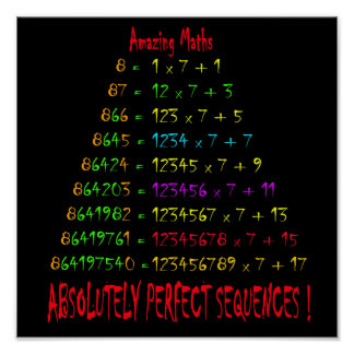 Amazing Maths 4 Poster