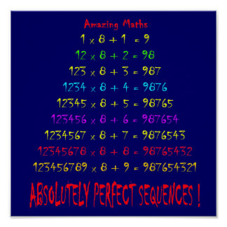 Amazing Maths Poster