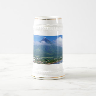 Amazing Mayon Volcano Beer Stein