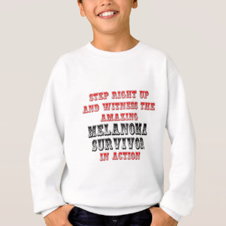 Amazing Melanoma Survivor In Action Sweatshirt
