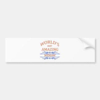 Amazing Memaw Bumper Sticker