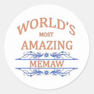 Amazing Memaw Classic Round Sticker