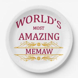 Amazing Memaw Paper Plate