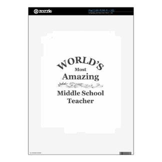 Amazing Middle School Teacher Skin For iPad 2
