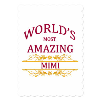 Amazing Mimi 5x7 Paper Invitation Card