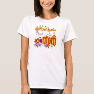 Amazing Mom Floral T-Shirt