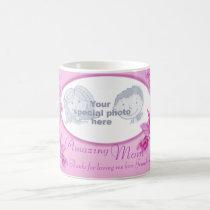 "Amazing Mom pink orchid ""own photo"" thanks mug"