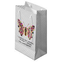 Amazing Monarch Butterfly Quilt Small Gift Bag