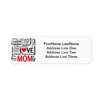 Amazing Multitasking Mom Mother's Day or Birthday Custom Return Address Label