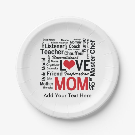 Amazing Multitasking Mom Mother's Day or Birthday Paper Plate