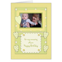 Amazing Mum Photo Birthday Card