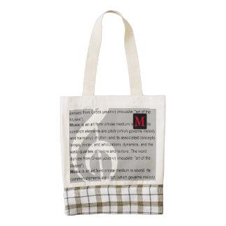 amazing music theme to personalize zazzle HEART tote bag