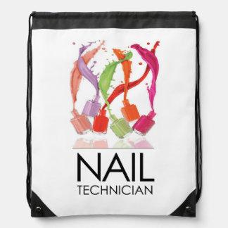 Amazing 'Nail Technician' Drawstring Bag