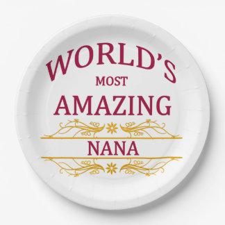 Amazing Nana Paper Plate